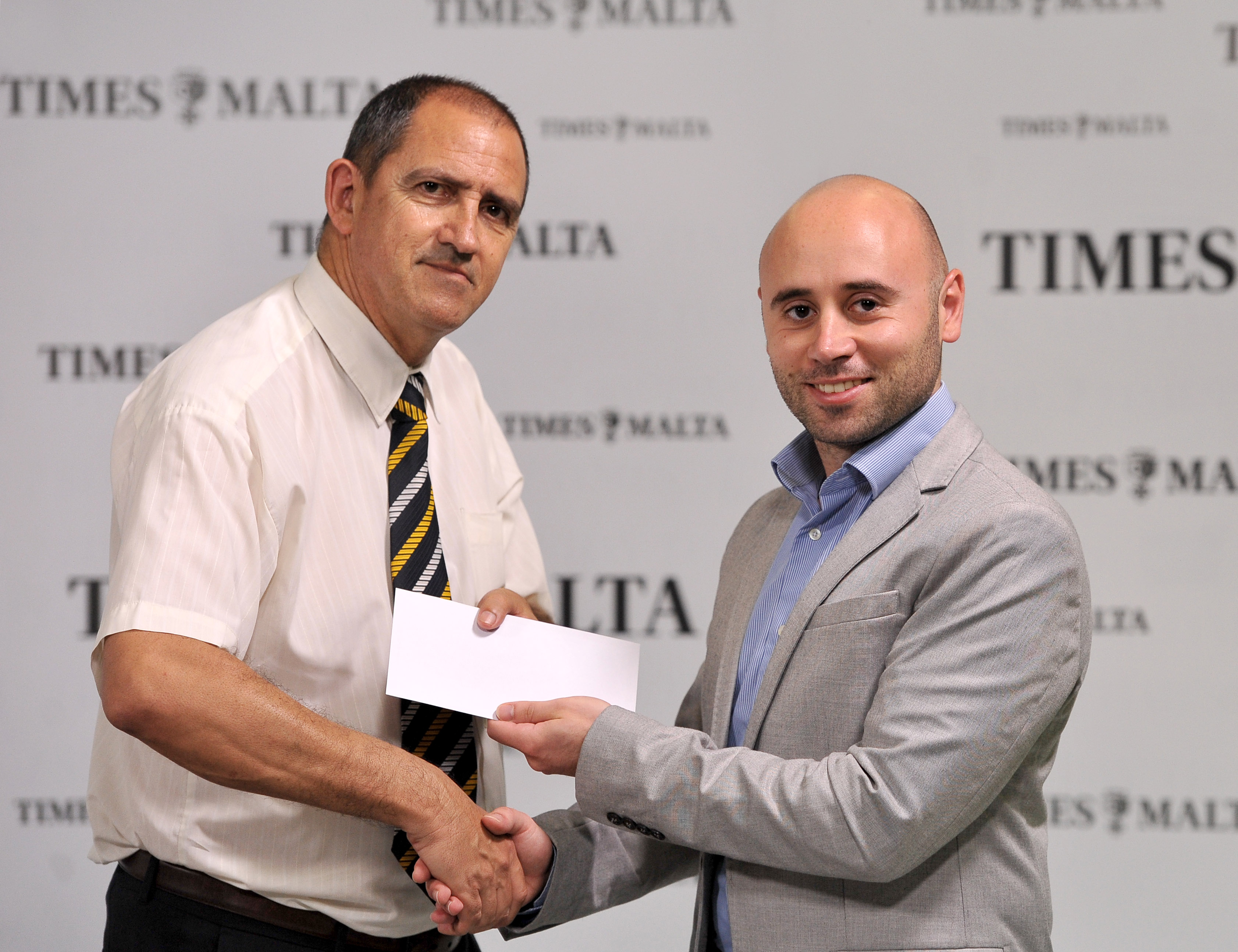 Kenneth Abela, a winner of the Word Game competition with Times of Malta