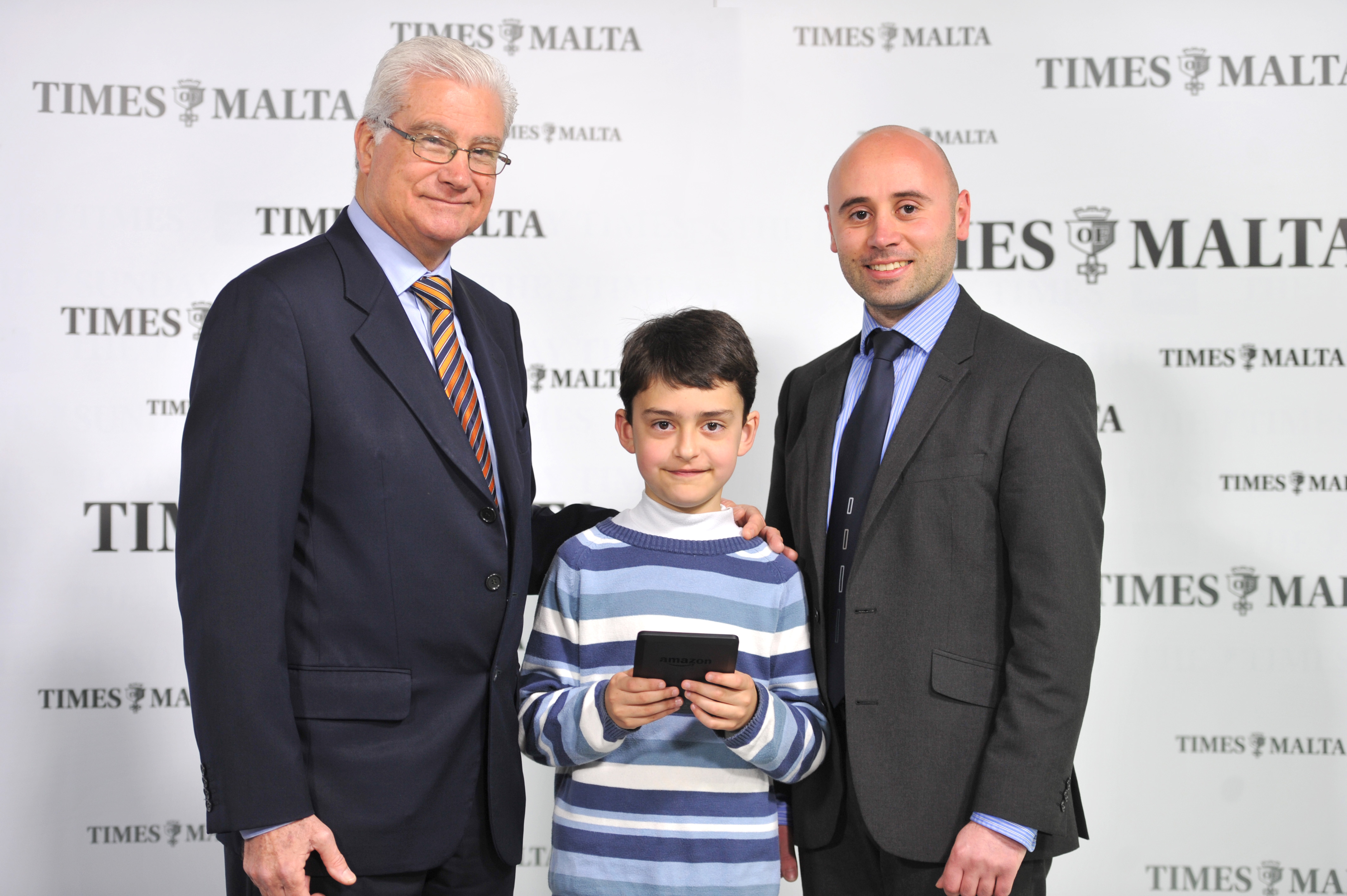 Ajay Borg won a Kindle thanks to Junior News, sponsored by the Malta Bankers' Association