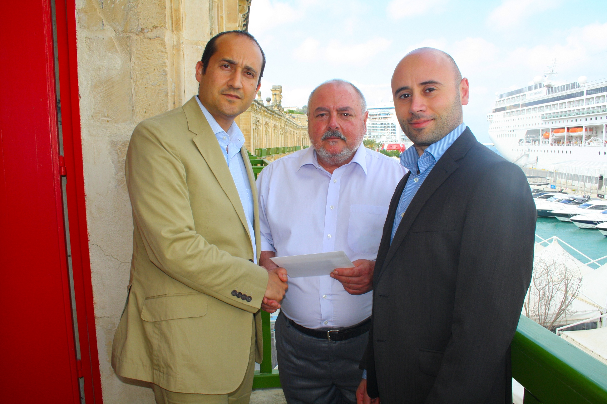 Tonio Mercieca was one of three lucky winners who received vouchers to spend at Valletta Waterfront